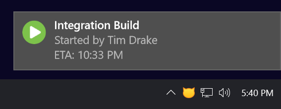 Build notifications