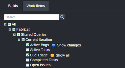 CatLight work item monitoring settings